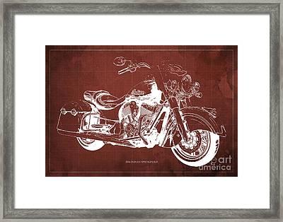 2016 Indian Blueprint Framed Print by Pablo Franchi