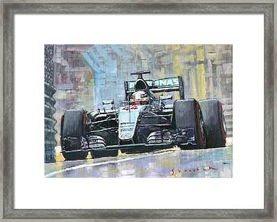 2016 Monaco Gp Mercedes Amg Petronas Hamilton  Framed Print