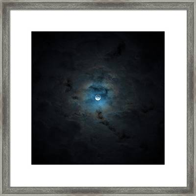 2016 Super Moon Behind Clouds Framed Print by Will Leffert