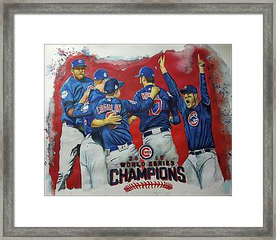 2016 World Series Champions Framed Print by Fred Smith