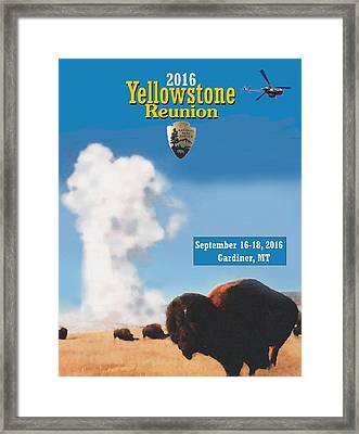 2016 Yellowstone Nps Reunion Framed Print