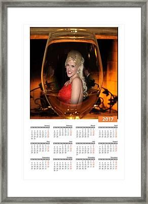 2017 Calendar Honoring Anna Nikole Smith Framed Print