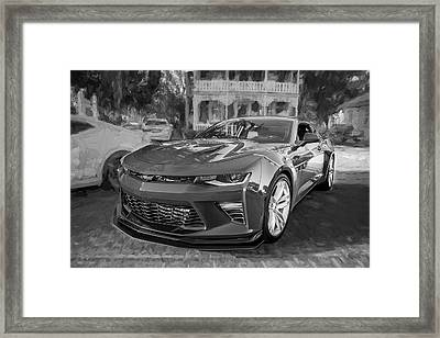 Framed Print featuring the photograph 2017 Chevrolet Camaro Ss2 Bw by Rich Franco