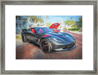 Framed Print featuring the photograph 2017 Chevrolet Corvette Gran Sport  by Rich Franco