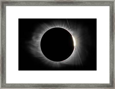 2017 Eclipse - Diamond Ring Framed Print
