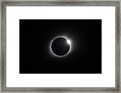 2017 Eclipse Diamond Ring Framed Print