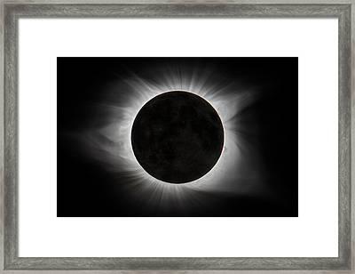 2017 Eclipse - Earth Shine Composite Framed Print