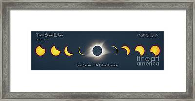 2017 Eclipse Over Lbl Framed Print