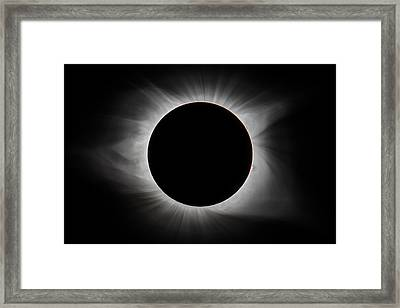 2017 Eclipse - Totality Framed Print
