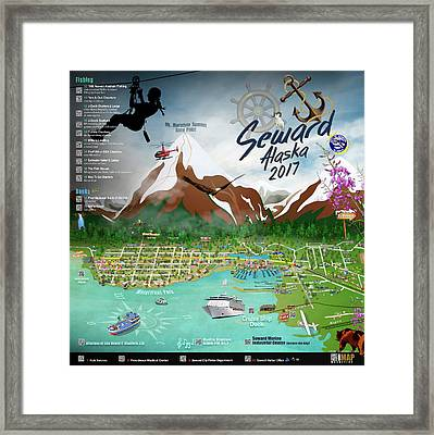 2017 Qr Code Directory Seward, Ak Right Panel Framed Print