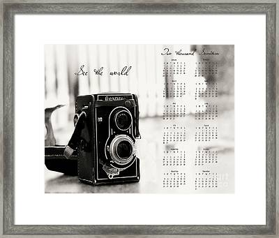 2017 See The World Wall Calendar Framed Print by Ivy Ho