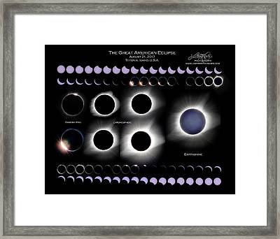 2017 Solar Eclipse Collage Framed Print