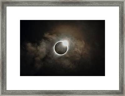 2017 Solar Eclipse Exit Ring Framed Print