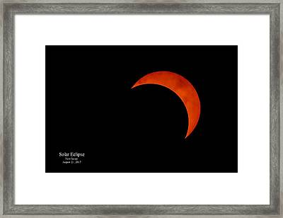 2017 Solar Eclipse From New Jersey With Date Framed Print