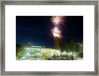 2017 Three Rivers Festival Aep Fireworks Framed Print