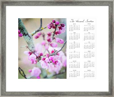 Framed Print featuring the photograph 2017 Wall Calendar Cherry Blossoms by Ivy Ho