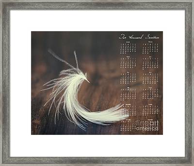 Framed Print featuring the photograph 2017 Wall Calendar Feather by Ivy Ho