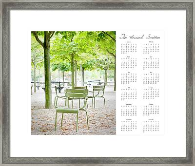 Framed Print featuring the photograph 2017 Wall Calendar Paris by Ivy Ho