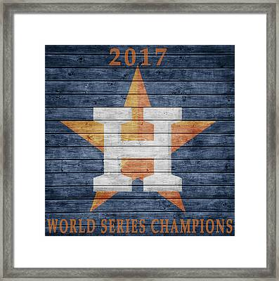 2017 World Series Champions Framed Print