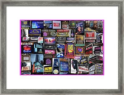 2018 Broadway Spring Collage Framed Print