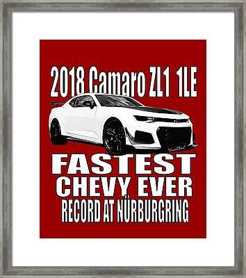 2018 Camaro Zl1 1le Framed Print