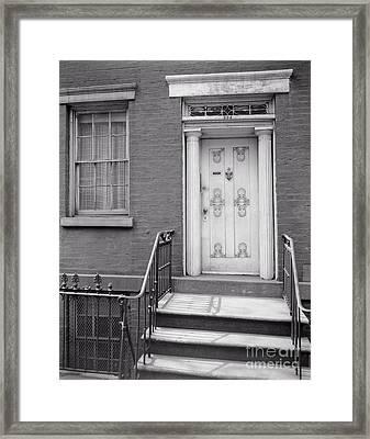 204 West 13th Street Framed Print by Lionel F Stevenson