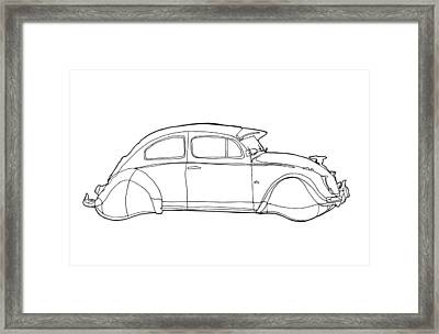 2069 Volkswagen Beetle Framed Print by Nate Petterson