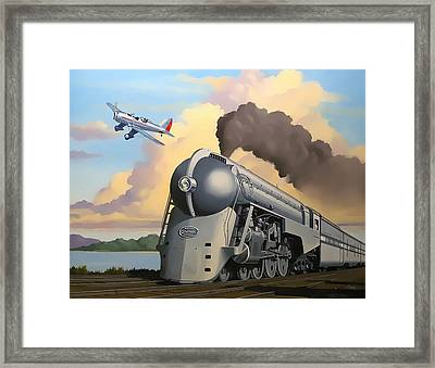 20th Century Limited And Plane Framed Print