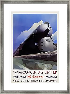 20th Century Limited Framed Print