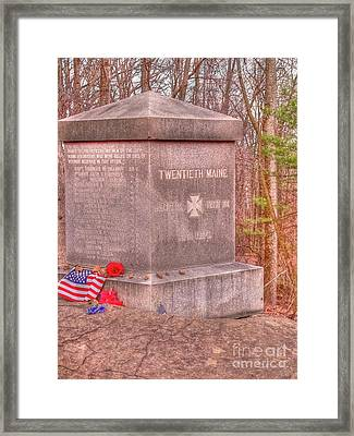 20th Maine Volunteers Framed Print by David Bearden