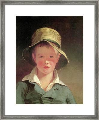 The Torn Hat Framed Print