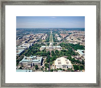 Aerial View Of Buildings In A City Framed Print by Panoramic Images