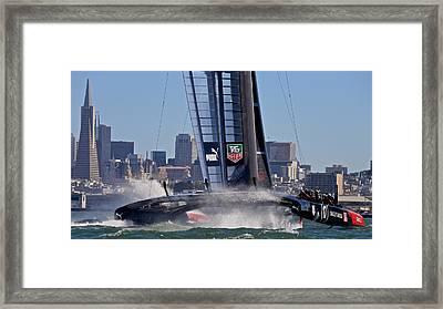 Team Oracle Framed Print by Steven Lapkin