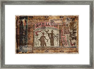 21 Ladies San Lucia Framed Print by Carol Leigh