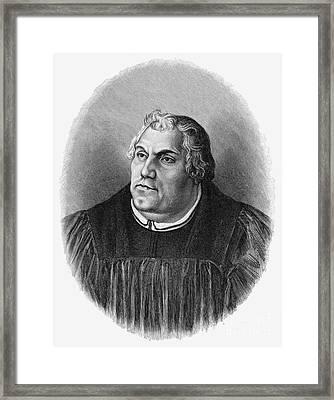 Martin Luther (1483-1546) Framed Print by Granger