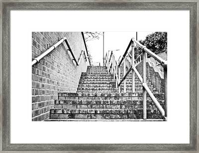 Stone Steps Framed Print