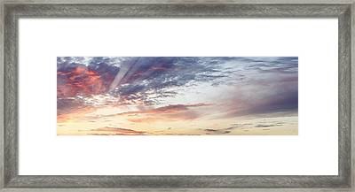 Summer Sky Framed Print by Les Cunliffe