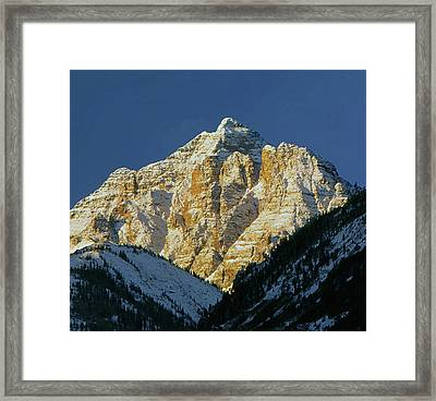 210418 Pyramid Peak Framed Print