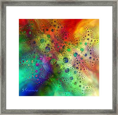211-count The Dots Framed Print by Silvia Giussani