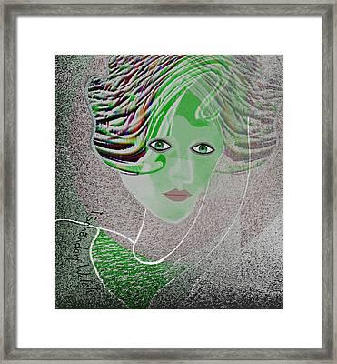 211 - An Elegant Model 2017  Framed Print by Irmgard Schoendorf Welch