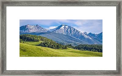 #215 - Spanish Peaks, Southwest Montana Framed Print