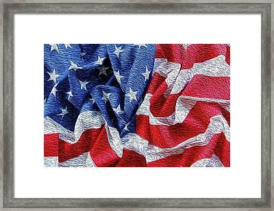 American Flag Framed Print