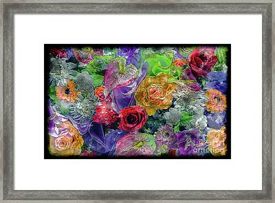 21a Abstract Floral Painting Digital Expressionism Framed Print