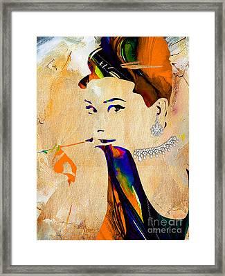 Audrey Hepburn Collection Framed Print by Marvin Blaine