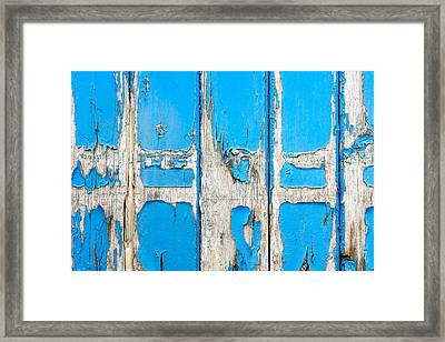 Blue Wood Framed Print by Tom Gowanlock