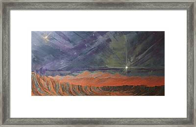 Cosmic Light Series Framed Print by Len Sodenkamp