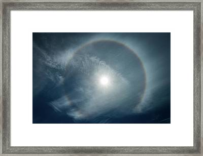 Framed Print featuring the photograph 22 Degree Solar Halo by William Lee