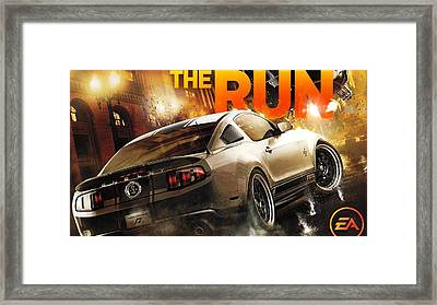225980 Car Need For Speed The Run Video Games Shelby Gt500 Super Snake Framed Print