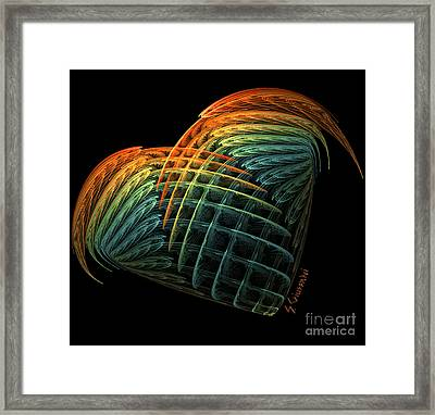 227-with Love Framed Print by Silvia Giussani