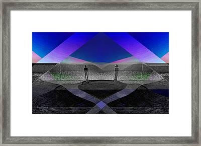228 - Men In Landscape    Framed Print by Irmgard Schoendorf Welch